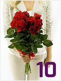 Kytice 10ti růží