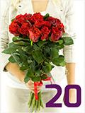 kytice 20ti růží