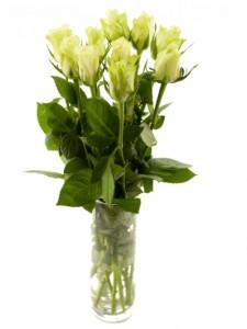 Kytice růží - bílé růže