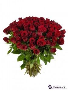 Kytice růží - rudé, červené růže